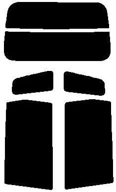 株式会社セブン 2層構造ハードコートフィルム ホンダ ゼスト JE1 JE2 リヤーセット カット済みカーフィルム ダークスモーク