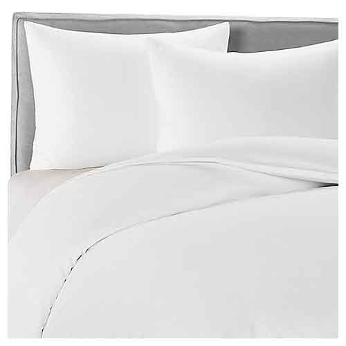 Double Size New Supersoft 100% Egyptian Cotton Duvet Cover Bedding Set 300 Thread Count White by P/L