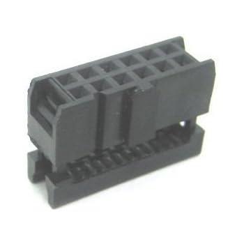 """2x10 Position Female Socket Header Connector 0.1/"""" 2.54mm Polarizing Key QTY 5"""