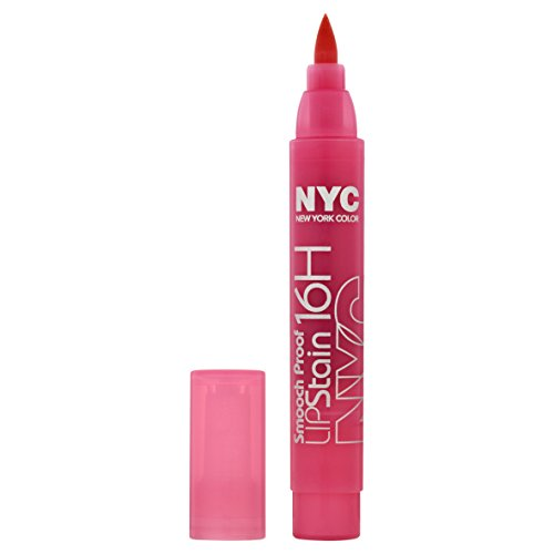 N.Y.C. New York Color Smooch Proof Lip Stain, Persistent Pink, 0.1 Fluid Ounce