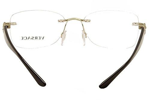 Versace Montures de lunettes Pour Femme 1225B - 1252: Pale Gold - 51mm