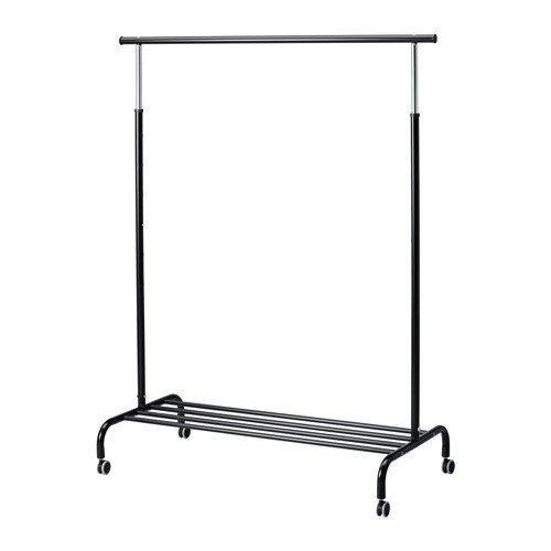 IKEA RIGGA Riel con soporte, Burra, Perchero Galán, Regulable altura, Ruedas