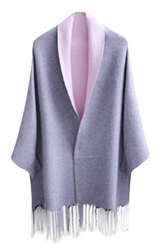 [サ二ー] レディース カーディガン コート 秋冬 きれいめ 羽織り 大きいサイズ 長袖 ジャケット ショール アウター マント ゆったり ニット ロング丈 タッセル