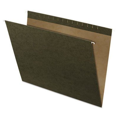 X-Ray Hanging File Folders, Standard Green, 25/Box