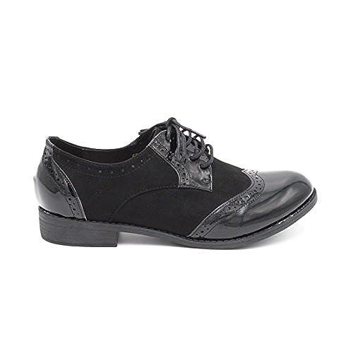 New Fashion Shoes Chaussure Derby Vernis Derbies Femme Vernis