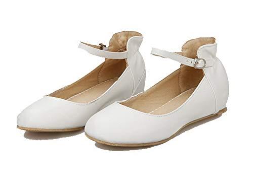 Chiusa Tacco flats Fibbia Ballet Punta Puro Fbuidc010792 Allhqfashion Bianco Donna Basso qtPIB