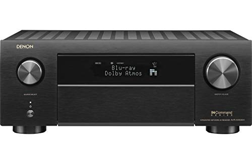 Denon AVR-X4500H Receiver 8 HDMI in /3 Out, High Power 9.2 Channel Amplifier (125 W/Ch) | Home Theater | Dolby Surround Sound, Music Streaming with Alexa + HEOS | Audyssey MultEQ Advanced Calibration