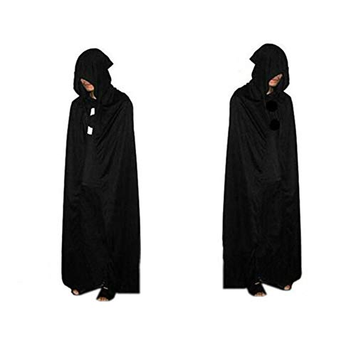 Cloak Women - 1pc Halloween God Of Death Cloak Hooded Cape Witch Adult Devil Robe Floor Length Cosplay Party - Decorations Death Dress Decor Shirt Soiree Party Cloak Cape Cosplay -