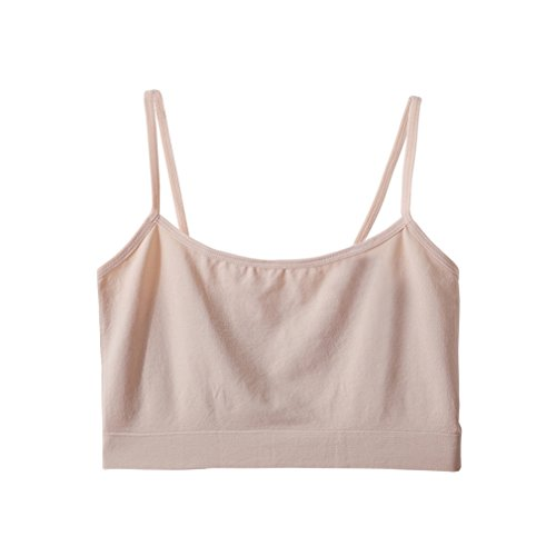 Fimage Women's Simple All-Match Pure Color Stretch Seamless Mini Camisole Nude Free