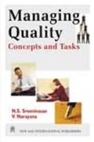 Read Online Managing Quality: Concepts and Tasks pdf