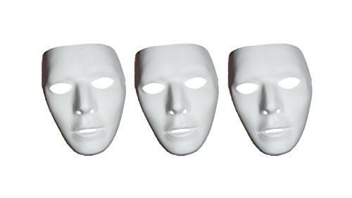 Walking Raptor Costume (Blank White Male Mask Halloween Accessory,3-Pieces)