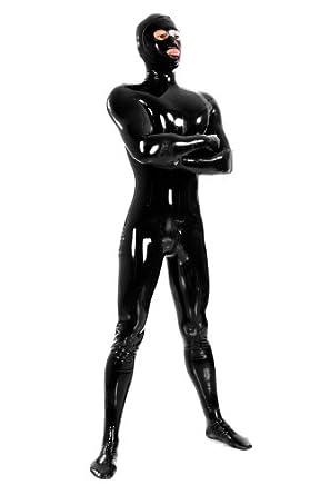 avacostume men 39 s black latex full bodysuit rubber zentai catsuit unitard clothing. Black Bedroom Furniture Sets. Home Design Ideas