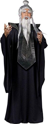 [Sensei Master Costume Black - Standard - Chest Size 33-45 (One Size)] (Mei-costume)
