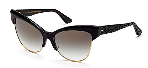 Dita Temptation Sunglasses 22029A Black Gold / Dark Grey Gradient Gold Flash - Eye Dita Sunglasses Cat