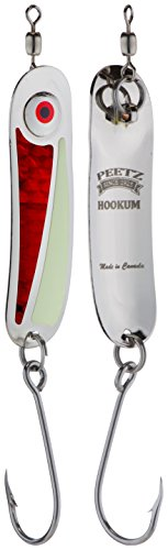 "PEETZ Outdoors Hookum"" Spoon Fishing Lure - Cherry Bomb 