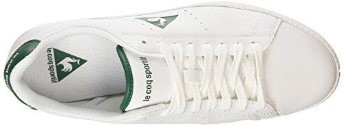 Le Coq Sportif Courtone S Lea Sneaker da Uomo Bianco (Optical White/Evergroptical White/Evergr)