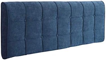 柔らかい枕元の柔らかい背もたれ、無垢材の寝室の羽毛布団枕休息腰多機能洗える読書枕6色、5サイズ(色:青、サイズ:150 * 58 cm)