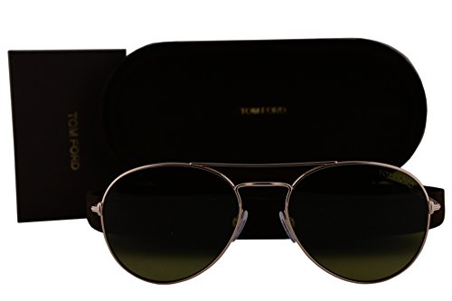 Tom Ford FT0551 Ace-02 Sunglasses Shiny Rose Gold w/Green Lens 28N TF551 FT551/S - Ford Tom Ace