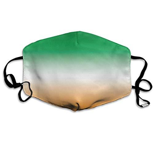 (Green, White and Orange (Ireland) Unisex Anti Dust Face Mouth Mask for)