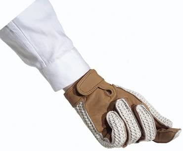 All Sizes Natural Breathable Ovation Crochet Back Riding Gloves