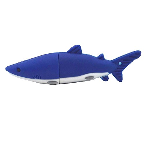 Aneew Blue Pendrive 32GB U Disk Shark Fish USB Flash Drive Memory Thumb (Best Looking Usb Flash Drive)