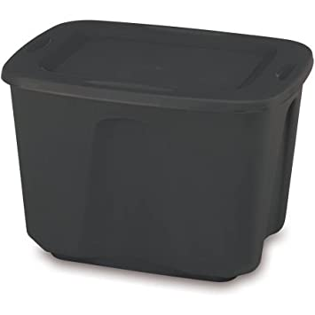 Exceptionnel Mainstay Storage Totes Easy To Transport, 18 Gal, Black, Set Of 8