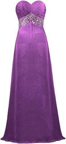 Long Sweetheart ANTS Purple Bead Women's Prom Gowns Dresses Evening Chiffon SS6wEO