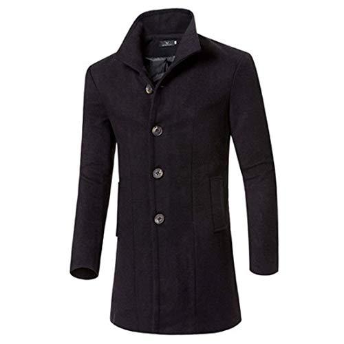 da da Lunga Outfit Mode Schwarz Uomo Coat di A Marca Marca Marca Trench Giacca da Giacca Giacca Vento College Caldo Cappotto Fit Uomo Slim d5FxaR7