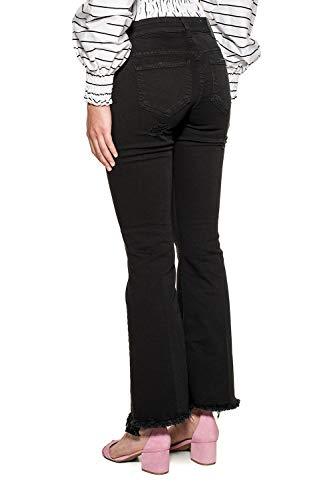 DONDUP Femme Jeans Noir DP297BS009DR23999 Coton PUfq7PRF