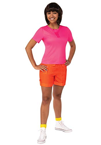 Dora Boots And Swiper Halloween Costumes (Rubie's Women's Explorer Movie Adult Dora Costume, Standard, As)