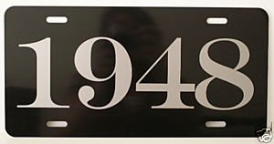1948 YEAR LICENSE PLATE