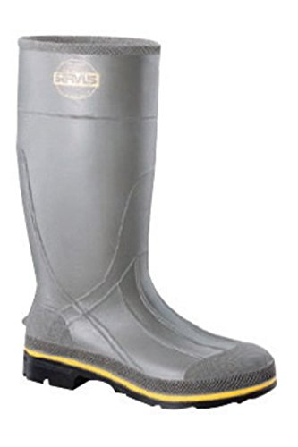 Kimberly-Clark Apparel HON75101-12 Servus By Honeywell Size 12 PRO Gray 15'' PVC Knee Boots With TDT Dual Compound Yellow And Beige Outsole, Steel Toe And Removable Insole, 15.34 fl. oz.