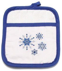 Ritz Snowflake Cobalt Pocket Oven Mitt