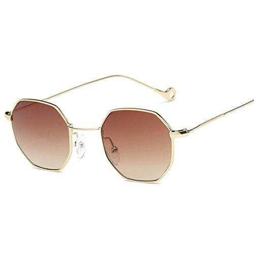 0df2c2ad0cb Doober Classic Men Women Hexagon Square Sunglasses Metal Eyewear Fashion  Shades Outdoor - Buy Online in UAE.