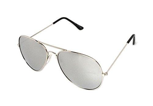 WebDeals - Clear Lens Aviator Eyeglasses Classic Retro Metal Frame... (Silver, Silver ()