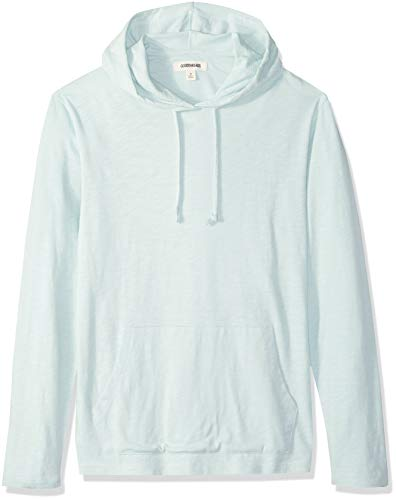 Goodthreads Men's Lightweight Slub T-Shirt Hoodie, light aqua, Medium