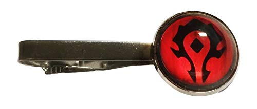 New Horizons Production World of Warcraft Horde Logo Glass Domed Tie Clip