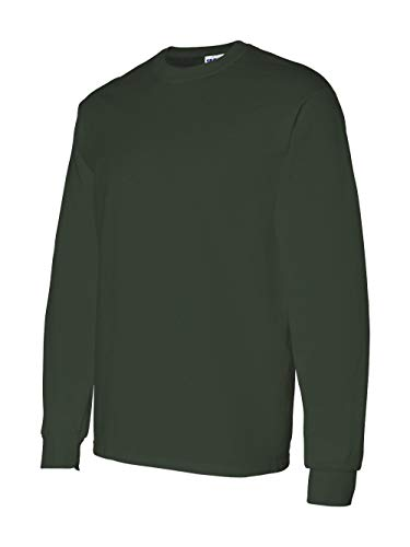 - Gildan G5400 5.3 oz. Heavy Cotton Long-Sleeve T-Shirt, Forest Green, 3XL