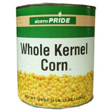 Extra Standard Whole Kernel - no.10 can, 6 cans per case