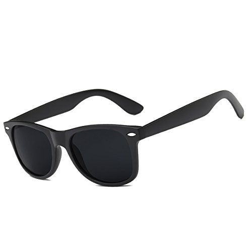 FEIDU Classic Polarized Mens Sunglasses Wayfarer Glasses Unisex Eyewear FD 0105 (Matte Black, - Sunglasses Guy