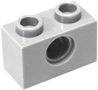 LEGO Parts and Pieces: Technic Light Gray (Medium Stone Grey) 1x2 Brick with Hole x100