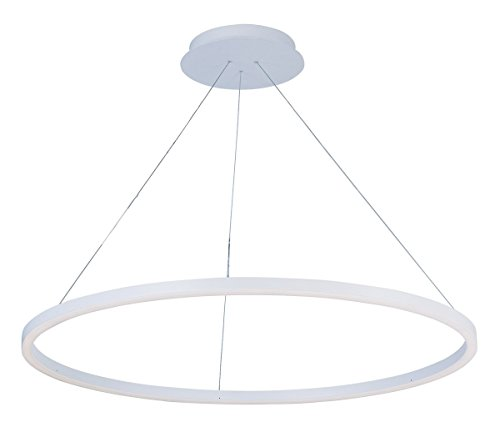 Cirque Collection Pendant (Pendants 1 Light With Matte White Finish Acrylic Aluminum Material LED Bulb 40 inch 51 Watts)