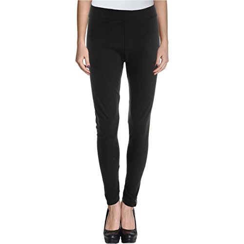 Style & Co. Womens Faux-Leather Embellish Pull On Leggings Black L