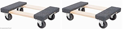 TruePower 2 PACK Furniture Moving Dolly 12' x 18' Movers Heavy Duty Caster Appliance PRO!
