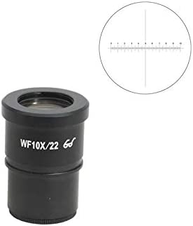 10mm//100 Div One Field of View 22mm Mounting Size 30mm High Eyepoint SZ05013231 X-Axis Crosshair BoliOptics WF 10X Widefield Microscope Eyepiece with Reticle