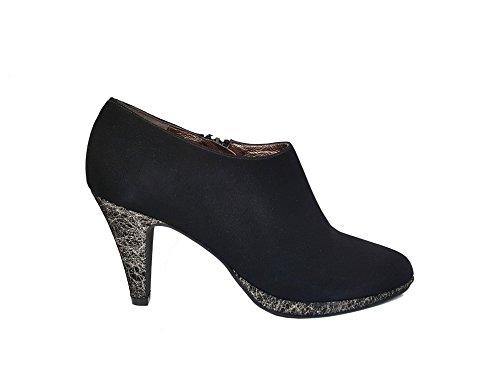 GENNIA VALDESIN - Zapatos Abotinados de Tacón de Aguja y Plataforma con Punta Cerrada Para Mujer
