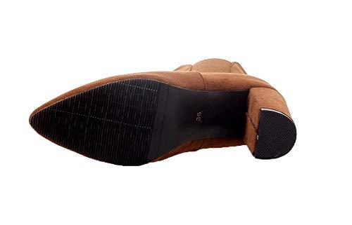 Scarpe A Alto Tacco gmmxb116756 Stivali Caviglia Giallo Alla Donna Punta Agoolar 56UcOfq6