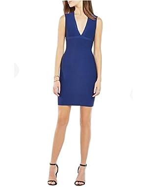 BCBG MAXAZRIA oralie blue bandage knit Dress