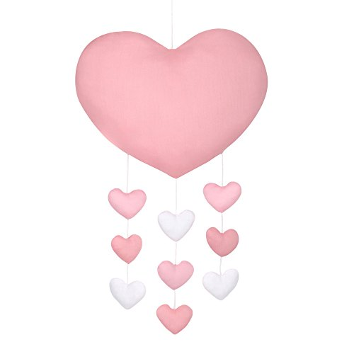 - Pink and White Hearts Nursery Ceiling Mobile by The Peanut Shell