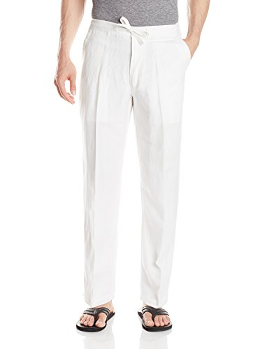(Drawstring Pant with Back Elastic Waistband, Bright White, XX-Large x 30L)